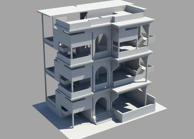 Game asset creation - Architecture, house, karachi