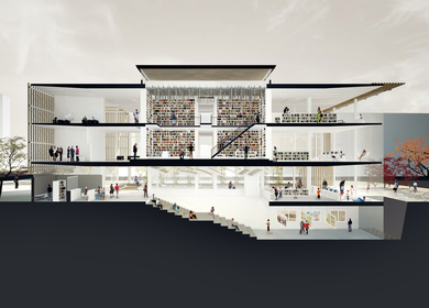 The Re-Imagined Library : Daegu Gosan Library Competition