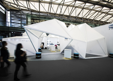 Exhibition booth for Simmons Bedding