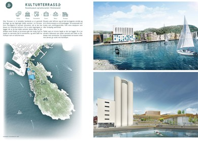 Silo Culture terrace, Modern Art Museum Architecture Competition