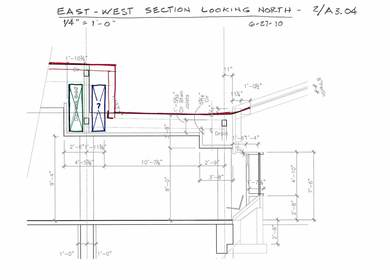 7. Section Diagram of Zone for Ductwork in Front Entry