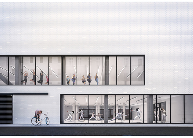Hybrid sports complex with fencing hall for school group No. 5 in Wrocław (PL)