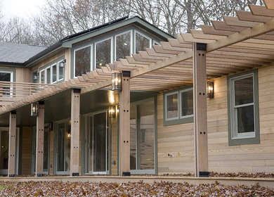 Sag harbor House in the woods