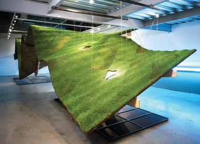 Keep Off the Grass Installation