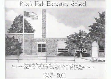 Prices Fork Elementary School hand rendering