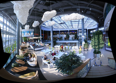 Foodcourt area in FORUM Shopping Centre