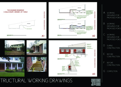 Stuctural Working Drawings for a Porch Renovation