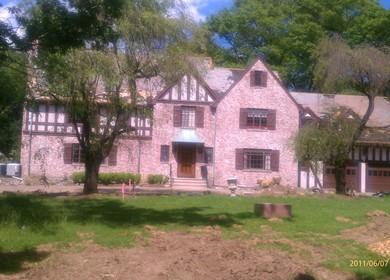 Tudor-esque mansion in Wellesley Hills