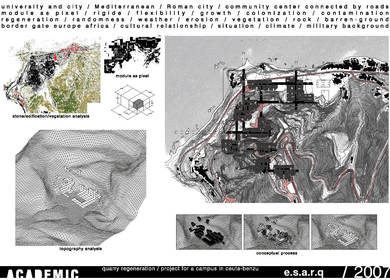 QUARRY REGENERATION // PROJECT FOR A CAMPUS IN CEUTA-BENZU