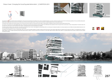 Competition for the Piraeus Tower 2010 – Changing the face/Facades Reformation