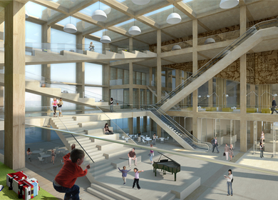 Pinewood Library: design for new Helsinki public library by Sputnik and ABT