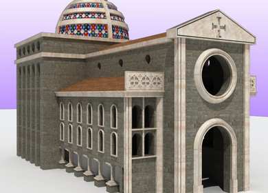 reconstruction of a project of a church ever built