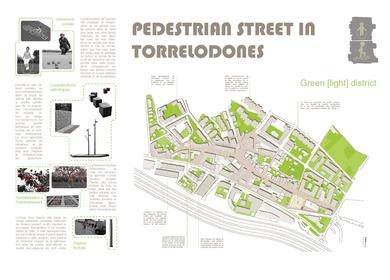 Pedestrian street in Torrelodones.