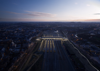 Gare de Mons by Santiago Calatrava