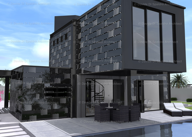 Private Residence, Black Crystal House.