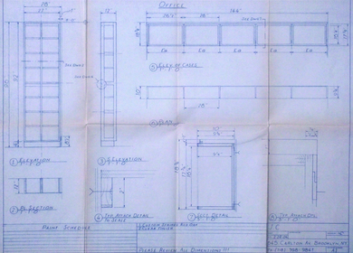 Gobillot/ Mc Swain Millwork Pencil Drawings