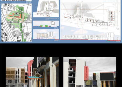 Bio-compatible intervention in Rome south- thesis of Master Degree in Architecture