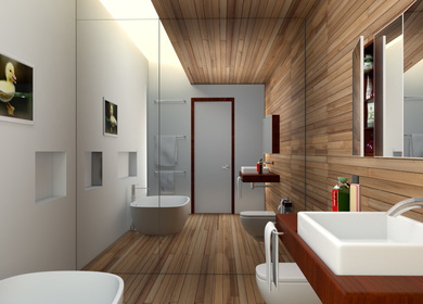 Bathroom Design, 3ds Max 2012, Mental Ray, Photo Shop CS5