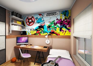 Interior design projects and visualizations
