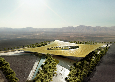 Rafael de La-Hoz proposes a habitable natural Oasis for The Noble Quran Oasis Competition in Madinah