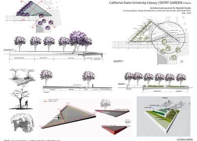 Fresno University Entry Garden