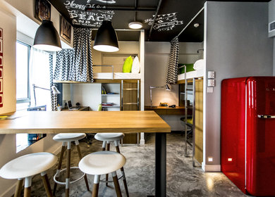 Happiness inside a Small Apartment_Campus Hong Kong Student Apartment Design