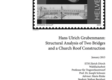 Structural Analysis of work by Hans Ulrich Grubenmann