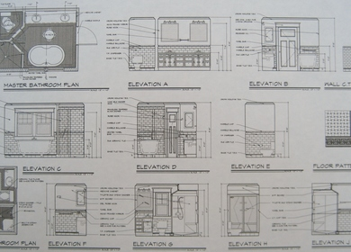 New Bathrooms. Plans and Elevations.