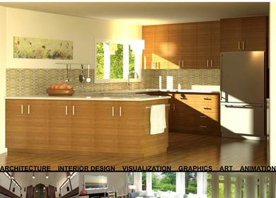 3d Visualization - Kitchen Design Rendering