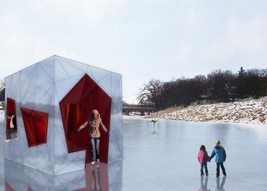 Ice Womb - warming hut