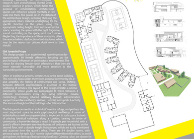 Prison as a mind tuning architecture - Girl Juvenile prison design (Master Thesis)