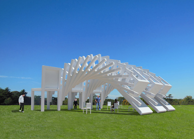 The Three Falling Chairs Pavilion