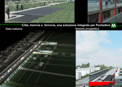 An integrated transport center for Pontedera, Italia
