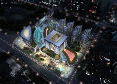 Multi-functional luxury residential complex(China,Yulin )