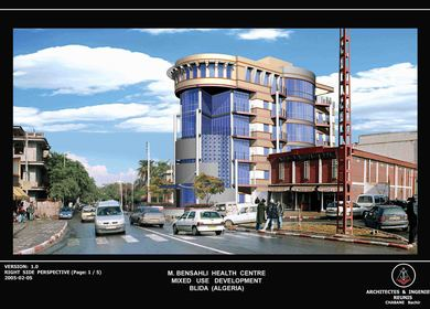 Bensahli Medical Center,( Mixed Use Development), Blida, Algeria.