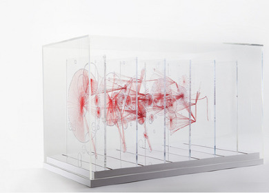 Knots, Red Thread Sculpture
