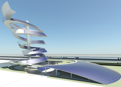 Solar Spiral for the Chicago Spire Hole - Urban Mixed Use PV Power Plant
