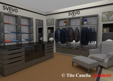 Showroom for Italian Brand, Concept.