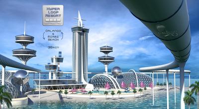 Hyperloop Resort. Miami Orlando