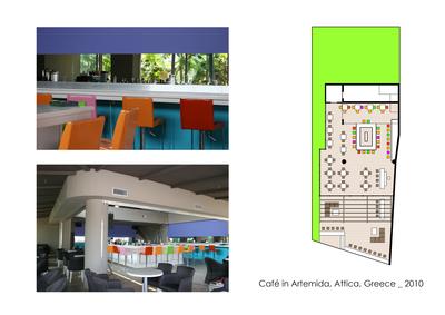 Café in Artemida, Attica, Greece
