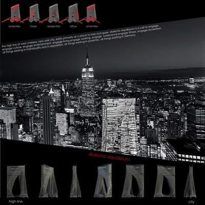 Dialectic Equilibrium - High Rise Project - The High Line, NYC
