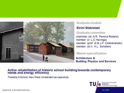 Refubrishment of historic school building towards energy efficiency