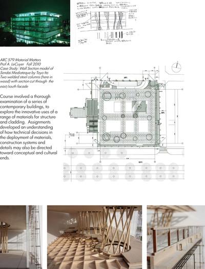 Fabrication model: Sendai Mediatheque