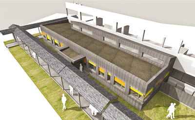Research Laboratory + Healthcare - L - Competition Winner - Project Manager at Gautier Guilloux architects, France, 2011