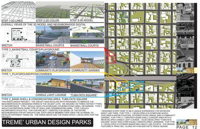 Treme' Urban Designed Parks