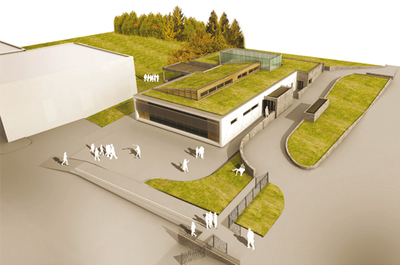 Low-energy dining hall - L - Competition winner - Architect at Gautier Guilloux architects, France, 2011