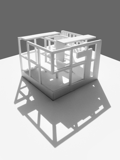Courtyard Pavilion + nine square problem