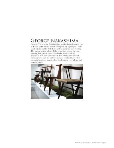George Nakashima Trade Show Booth ICFF