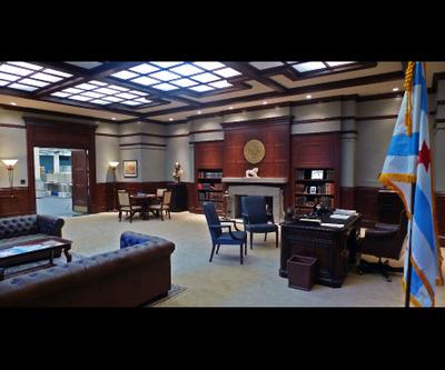 Boss Kane's office set