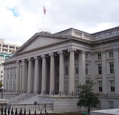 Main U.S. Department of Treasury, Washington, DC.